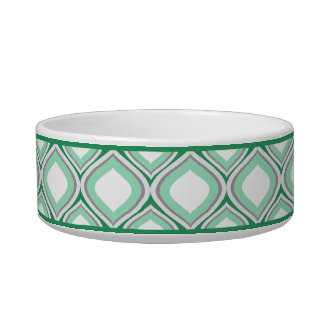 Seafoam Green Ogee Small Ceramic Dog Bowl