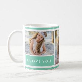 Seafoam I love You Photo Collage | Mug