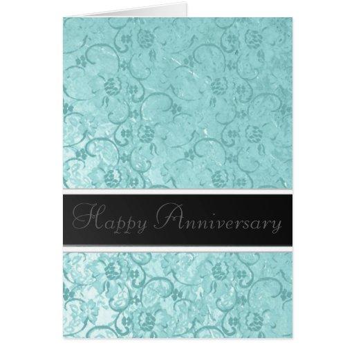 Seafoam Lace Anniversary Cards
