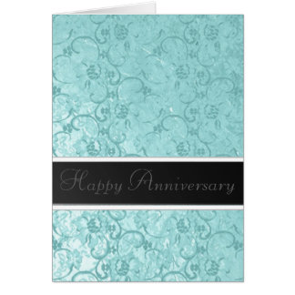 Seafoam Lace Anniversary Greeting Card
