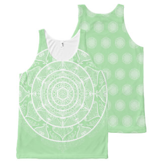 Seafoam Mandala All-Over-Print Tank Top