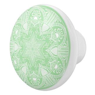 Seafoam Mandala Ceramic Knob