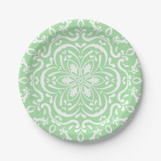 Seafoam Mandala Paper Plate