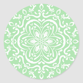 Seafoam Mandala Round Sticker