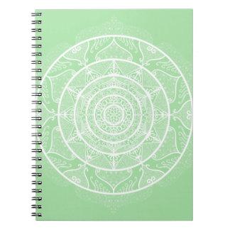 Seafoam Mandala Spiral Notebook