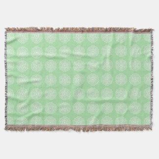 Seafoam Mandala Throw Blanket