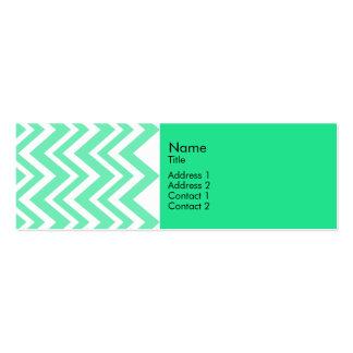 Seafoam Mint Green Zigzgag Pattern Mini Business Card