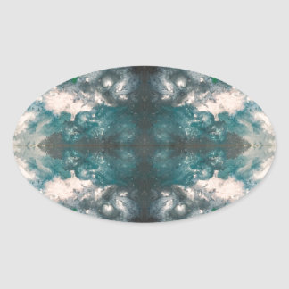 Seafoam Pattern Oval Sticker