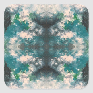 Seafoam Pattern Square Sticker