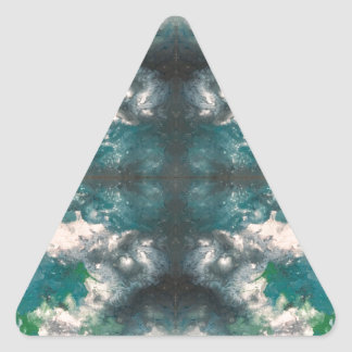 Seafoam Pattern Triangle Sticker