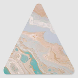 Seafoam Shore Triangle Sticker