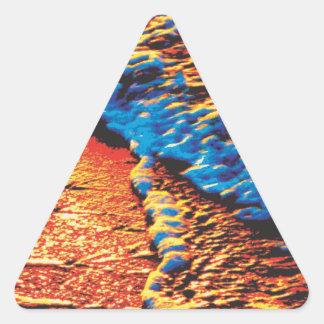 Seafoam Sunrise 2.0 Triangle Sticker