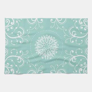 Seafoam Swirl Kitchen Towel