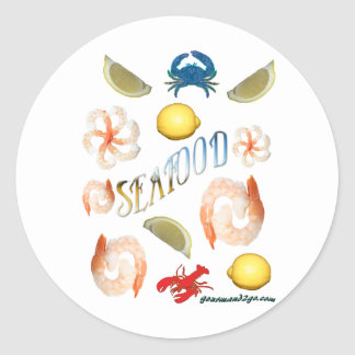 Seafood! Classic Round Sticker