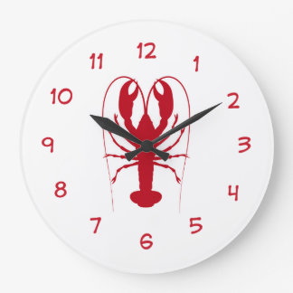 Seafood Kitchen Lobster Clock