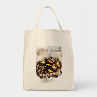 Seafood Mussels Photograph with customisable text Tote Bag