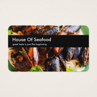 Seafood Restaurant Themed Business Card