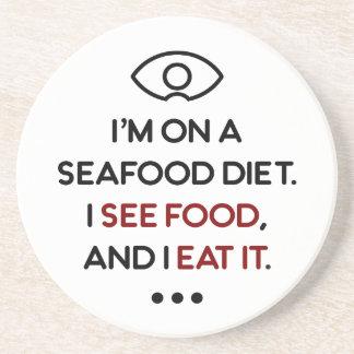 Seafood See Food Eat It Diet Coaster