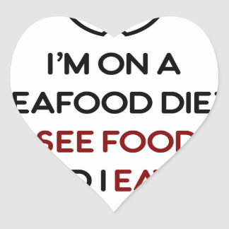 Seafood See Food Eat It Diet Heart Sticker