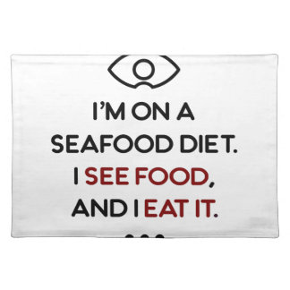 Seafood See Food Eat It Diet Placemat