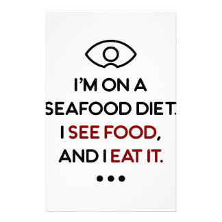 Seafood See Food Eat It Diet Stationery