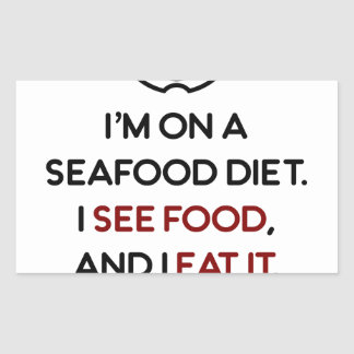 Seafood See Food Eat It Diet Sticker