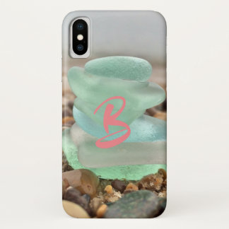 Seaglass and sand phone case