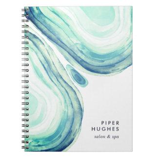 Seaglass Geode Notebook
