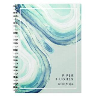 Seaglass Geode Notebooks