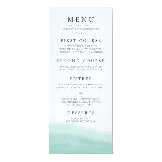 "Seaglass Tides Wedding Menu 4"" X 9.25"" Invitation Card"