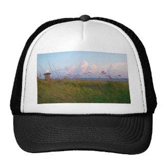 seagrass beach dunes florida lifeguard house hat