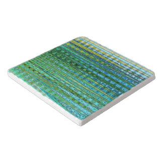 Seagrass Marble Trivet by Artist C.L. Brown