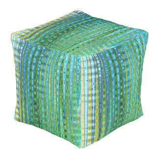Seagrass Outdoor Cubed Pouf by C.L. Brown