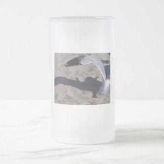Seagull and shadow. Neat effect on sand! Coffee Mug