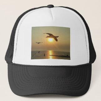 Seagull at Sunset Trucker Hat