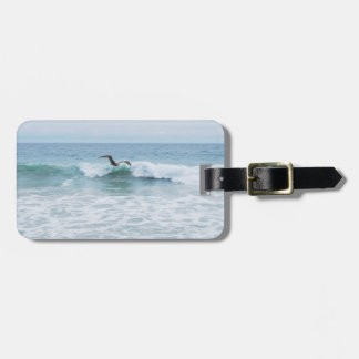 Seagull at the Beach in California Luggage Tag