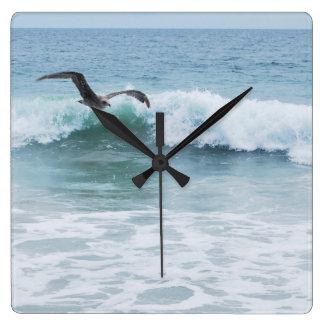 Seagull at the Beach in California Wall Clocks