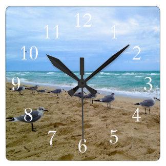 Seagull Beach Clock