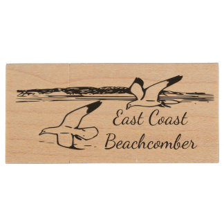 Seagull Beach East Coast Beachcomber flash drive Wood USB 3.0 Flash Drive