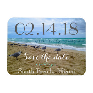 Seagull Beach Save the Date Magnet