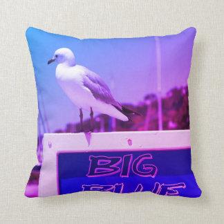 Seagull Big Blue Harbor Purple Blue Cushion