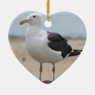Seagull Ceramic Heart Ornament