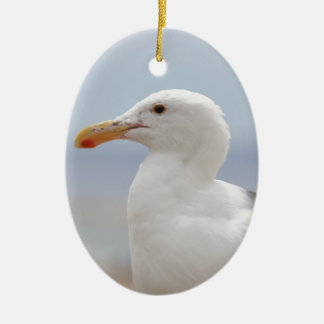 Seagull Ceramic Oval Ornament