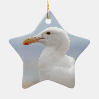 Seagull Ceramic Star Ornament