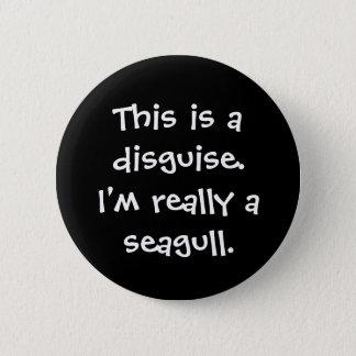 Seagull Costume 2 Inch Round Button