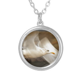 Seagull Design Silver Plated Necklace