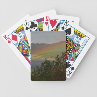 Seagull Flying past a Rainbow in Ardnamurchan Bicycle Playing Cards