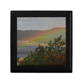 Seagull Flying past a Rainbow in Ardnamurchan Gift Box