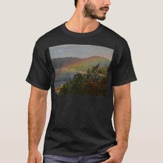 Seagull Flying past a Rainbow in Ardnamurchan T-Shirt