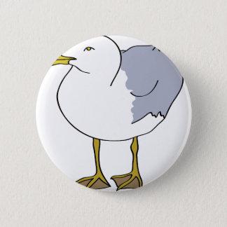 Seagull Illustration 2 Inch Round Button